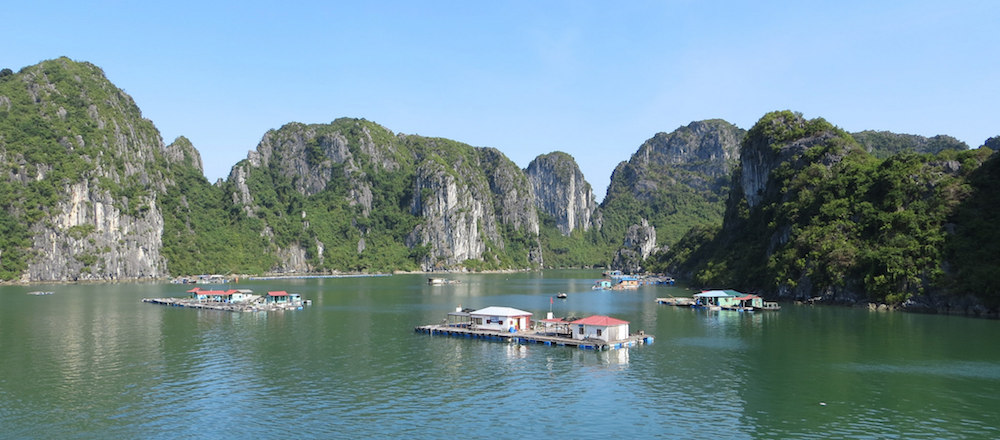 Halong Bay, a UNESCO World Heritage Site is filled with over 1,500 limestone islands and dramatic rock formations