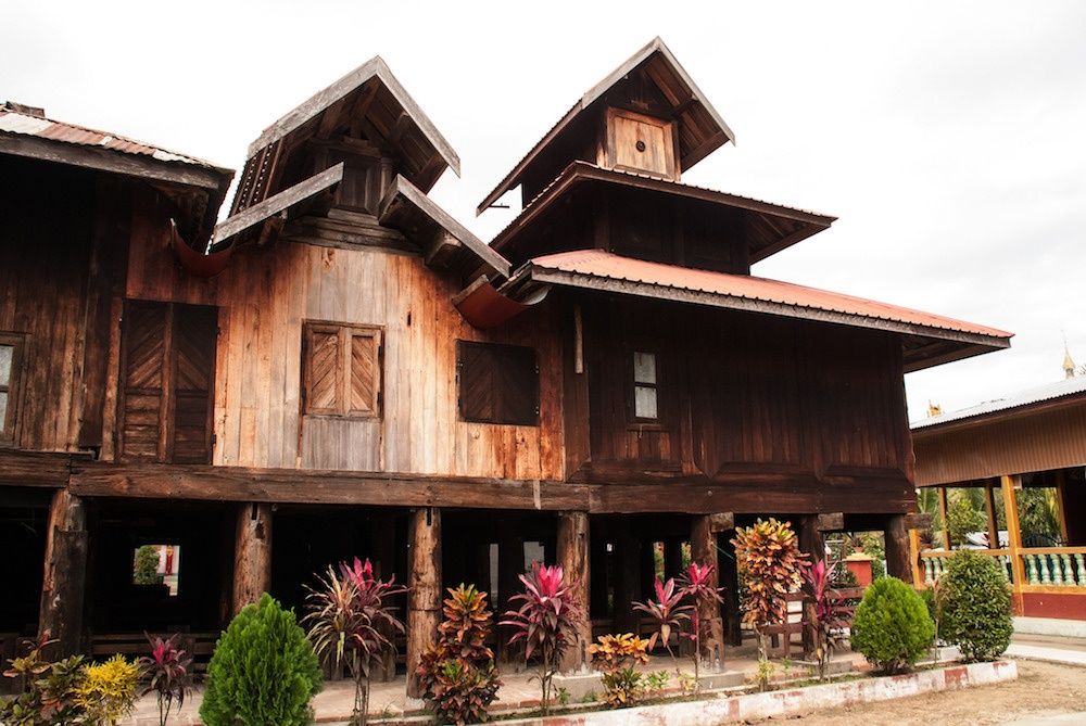 Ancient wood-carved monasteries from the Konbaung Period