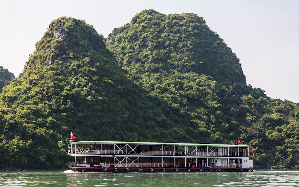 Sail through stunning landscapes from Halong Bay to Vietnam