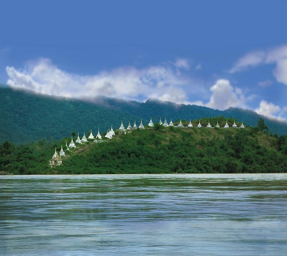 Dak Bungalows line the hilltops along the Chindwin River