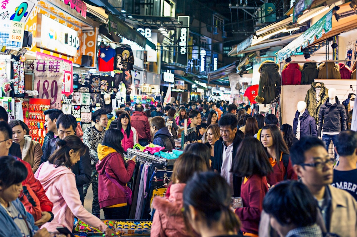 Shilin Night Market In Taiwan