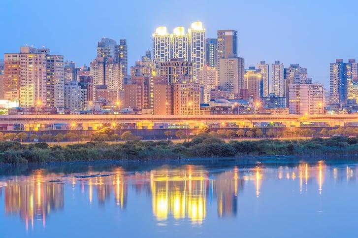 Nightlife scene in Taipei, Taiwan