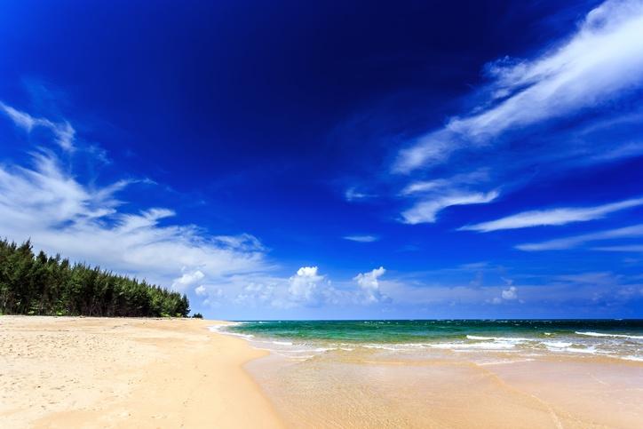 Mai Khao: only one on the beach, beach