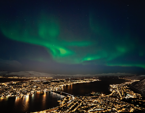 The Northern Lights in the Arctic Circle
